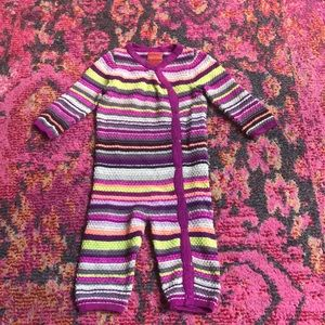 Missoni for Target 3-6m purple onesie